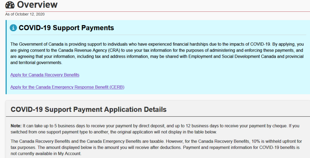 Applications For Canada Recovery Benefit Crb Tech Issues Resolved Fvn
